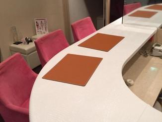 京都エステティックサロン カウンター天板張替
